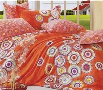 Orange Cirque Twin XL Comforter Set - College Ave Designer Series - Vibrant And Fun