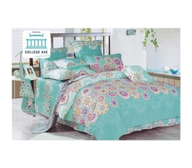 Caribbean Cirque Twin XL Comforter Set - College Ave Designer Series - 100% Cotton Comfort