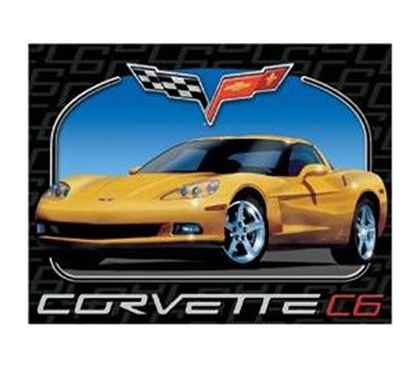 Dorm Decorations - Corvette C6 Tin Sign - Cool Tin Signs For College