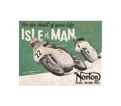 Best Items For College - Isle Of Man Tin Sign - Unique Dorm Decor