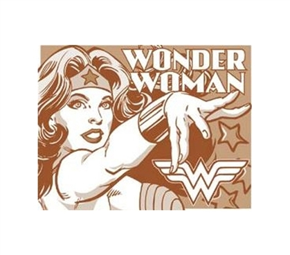 Dorm Shop For College - Wonder Woman Tin Sign - Add Fun Dorm Stuff