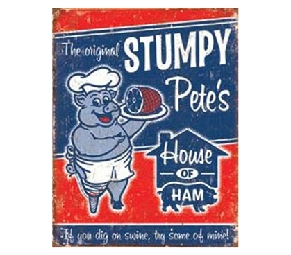 Buy College Decor - Stumpy Pete's Tin Sign - Decorate Your Dorm Room
