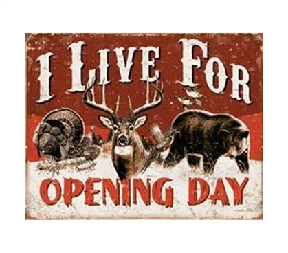 Dorm Room Shopping - Opening Day Tin Sign - Decor For Dorms