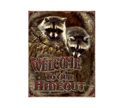 Buy Dorm Stuff - Our Hideout Tin Sign - Decorations For Dorms
