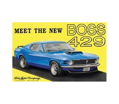 Fun Supplies For College - Mustang Boss 429 Tin Sign - Decor For Dorm Rooms