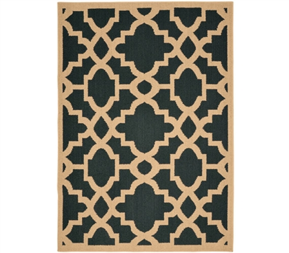 Athens Dorm Rug - Gray and Tan 5' x 7' Dorm Necessities College Rugs