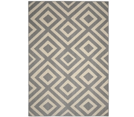Bristol Dorm Rug - Silver and Ivory 5' x 7' Dorm Essentials Dorm Room Decorations