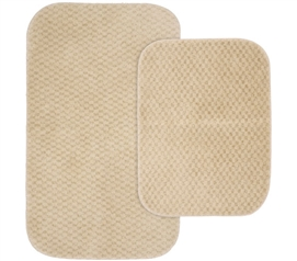 Pin Dot Bath Mat Set - Beige (2 Piece Set) Dorm Necessities College Supplies
