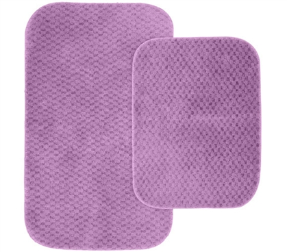 Pin Dot Bath Mat Set - Purple (2 Piece Set) Dorm Supplies Must Have Dorm Items Dorm Room Decorations