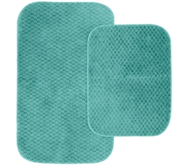 Pin Dot Bath Mat Set - Teal (2 Piece Set) Dorm Necessities College Supplies
