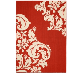 Cambridge Dorm Rug - Crimson and Ivory 5' x 7' Dorm Room Decorations Dorm Room Decor