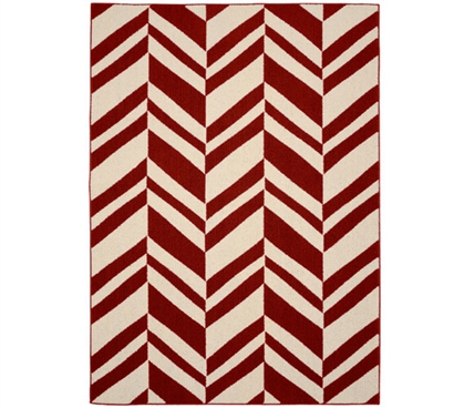 Arrow Dorm Rug - Crimson and Ivory 5' x 7' Dorm Room Decorations Dorm Room Decor