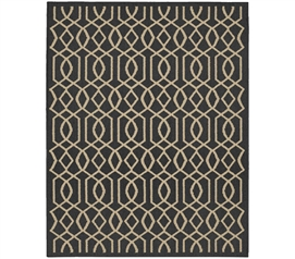 Fretwork Dorm Rug - Gray and Tan Dorm Room Decorations Dorm Essentials