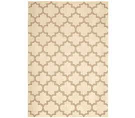 Geneva Dorm Rug - Ivory and Tan - 5' x 7' Dorm Essentials College Supplies