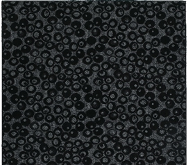 Pebbles College Rug - Black and gray 4' x 6' Dorm essentials Dorm Room Decorations