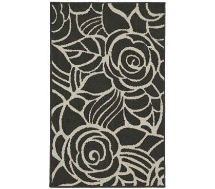 Rhapsody Dorm Rug - Gray and Ivory College Rug Dorm Essentials