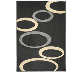 Soho Dorm Rug - Gray and Ivory - 5' x 7'