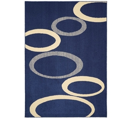Soho Dorm Rug - Indigo and Ivory - 5' x 7'