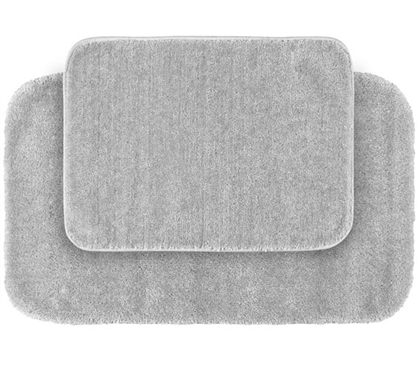 Classic Bath Mat Set - Platinum (2 Piece Set) Dorm Essentials Dorm Room Decor Suite Style Dorm Bathrooms