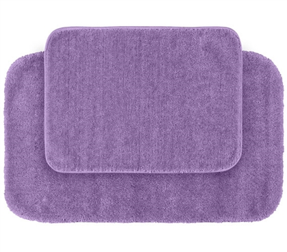 Classic Bath Mat Set - Purple (2 Piece Set) Dorm Necessities College Supplies