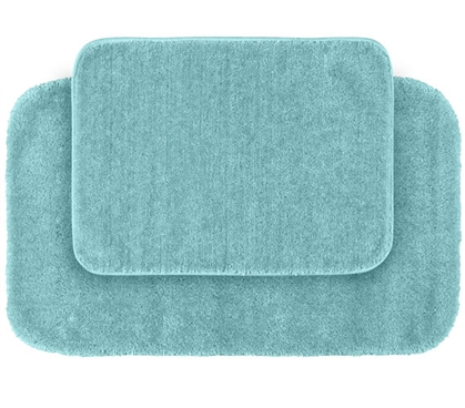 Classic Bath Mat Set - Seafoam (2 Piece Set) Dorm Essentials College Supplies