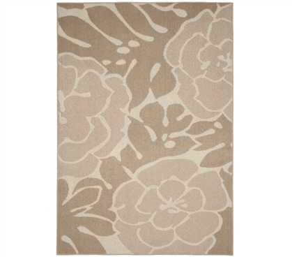 Valencia Dorm Rug - Tan and Ivory - 5' x 7'