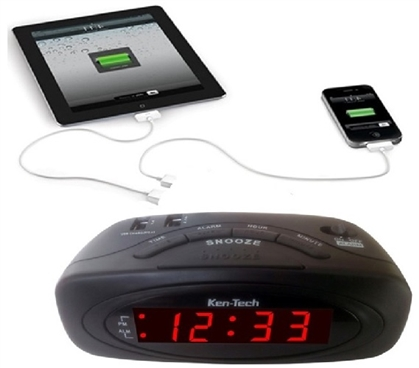 Digital LED Alarm Clock with 2 USB Cool Dorm Room Ideas