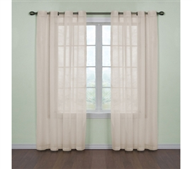 Elegant Look For Dorm Room - Fresh Scent College Curtains - Ivory - Dorm Decorations