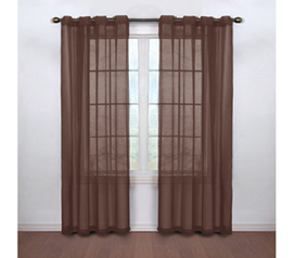 Curtains Resist Scents - Fresh Scent College Curtains - Espresso - Needed Dorm Decor