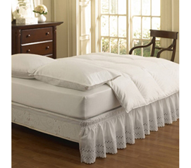 Provides a Decorative Touch - Twin XL Bed Skirt Designer Ruffle - Hide Underbed Storage