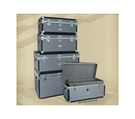 Beautiful Seward Classic Collection - Silver Dorm Room Trunk