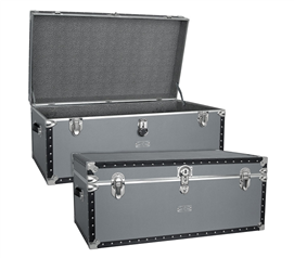 USA Made Oversized Steamer Trunk - Gray