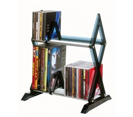 College Dorm Sized Accessory Mitsu 2- Tier Media Rack