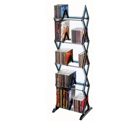 Mitsu 5- Tier Media Rack - CD/DVD/Blue Ray/Games Functional Decor College Storage