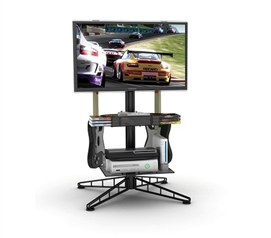 Spyder TV & Gaming Stand - Black - Keep Games Organized