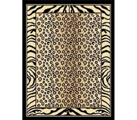 Spotted Leopard Zebra Dorm Room Rug Dorm room supplies