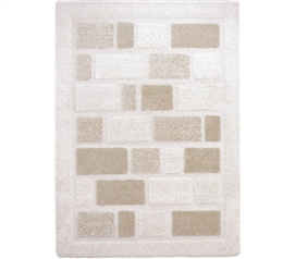 Makes Dorm More Comfortable - Tranquil College Rug - Cream and Beige - Adds Floor Decor