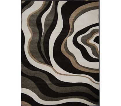 Completes Your College Decor - Verano College Rug - Dark Brown - Great Dorm Room Decoration