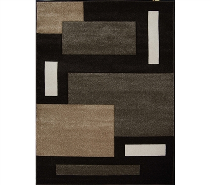 Add Dorm Decorations - Verano College Rug - Chocolate - College Shopping
