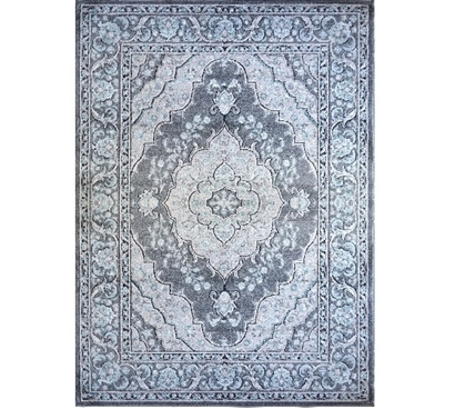 Dorm Necessities Lily Dorm Rug - Gray Dorm Carpet
