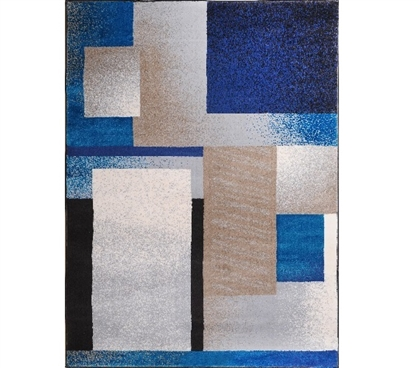Dorm Room Decorations Mod Square Blue Dorm Rug