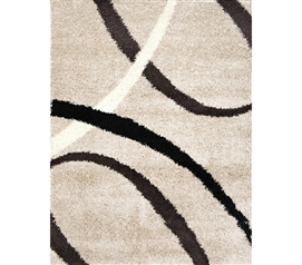 Rugs Are Dorm Essentails - Symphony College Rug - Beige - Cover Your Dorm Floor