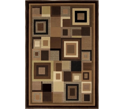 Crafty Contemporary Design - Chocolate Squares Dorm Rug