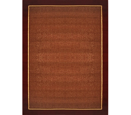 Boldly Styled Classic - Rusted Red College Rug Decor