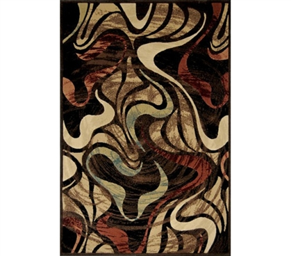 Wavy and Different - Vortex Styled Campus Room Rug