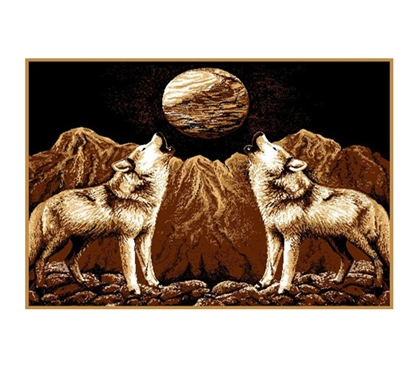 Howlin Wolves Decorative Dorm Room Rug College Supplies