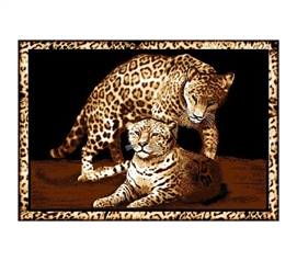 Momma & Baby Leopard College Dorm Room Rug Decorative Accents
