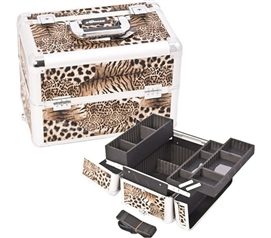 College Girl Cosmetic Case - Leopard Brown Case - Great For Cosmetics