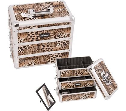 College Girl Cosmetic Case - Leopard Design - Useful, Practical College Supply