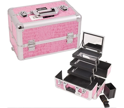 College Girl Cosmetic Case - Pink Croc Pro - Great-Looking Dorm Organizer